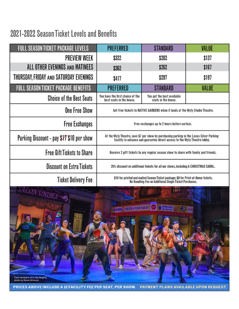 2021-2022 Subscriptions: Shows, Pricing and Benefits - Dallas Theater Center